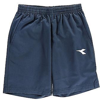 Diadora Kids Boys Brisbane Football Shorts Junior Lightweight Pants Bottoms