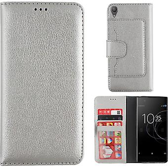 Colorfone Wallet Sony Xperia XA1 Plus Wallet Pouch SILVER