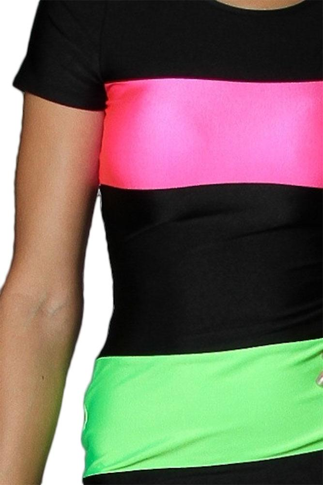 Waooh - dress with colored bands Blin