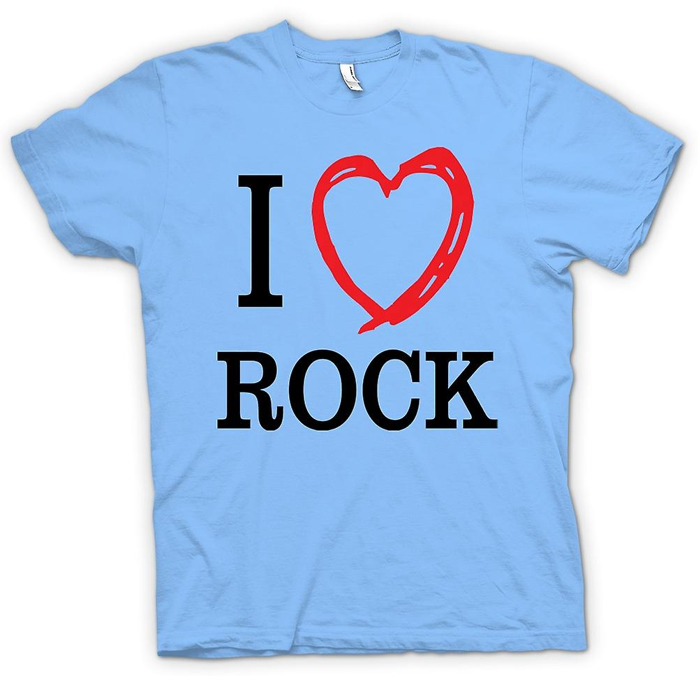 Hommes T-shirt - I Love Rock Music Band - Quote
