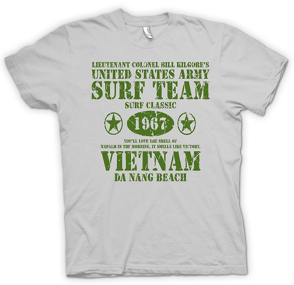 Heren T-shirt-Apocalypse nu Kilgores surfen Team