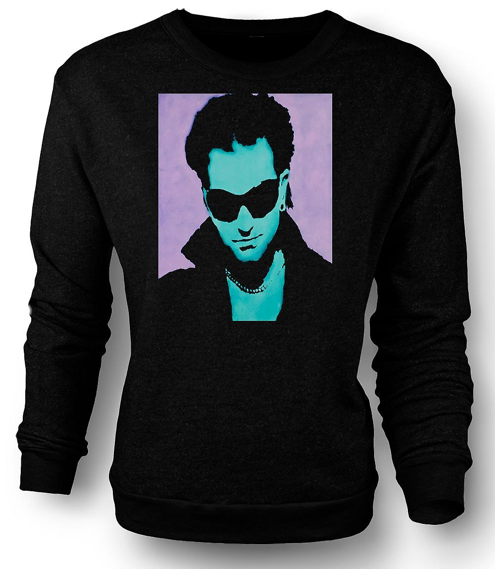 Mens Sweatshirt U2 - Bono - Pop Art