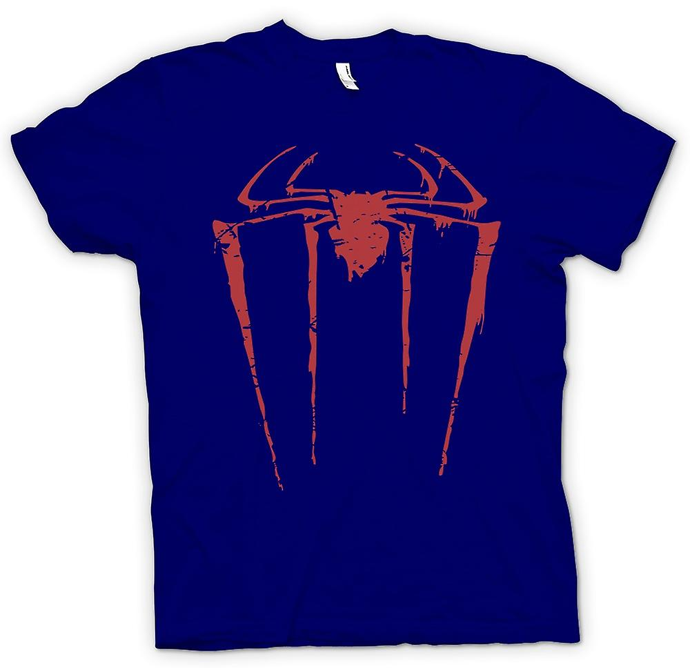 Mens t-skjorte-Spiderman Grunge Logo