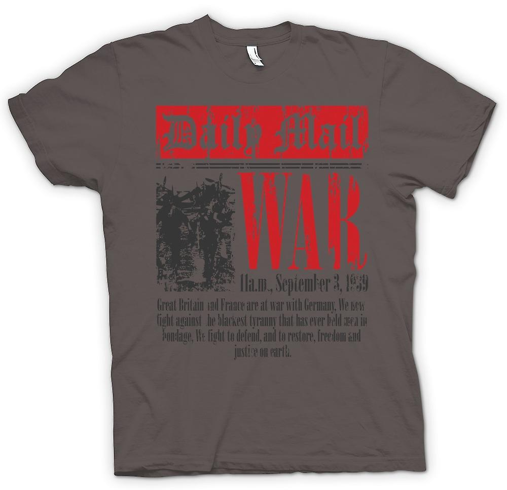 Womens T-shirt - journal - guerre déclaration Sep 3 1939