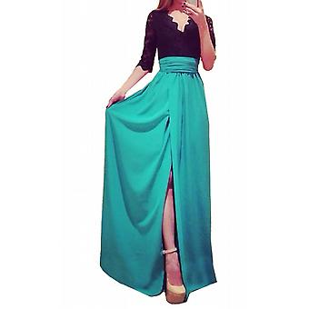 Waooh - In Evening Long Dress With Sheer Clus