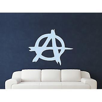 Anarchy Symbol Wall Art Sticker - Pastel Blue