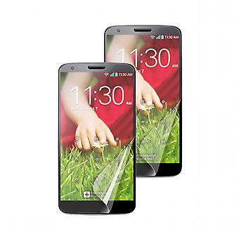 Set of two screen protectors: 1 Mate - 1 brightness fingerprint LG G2 Muvit