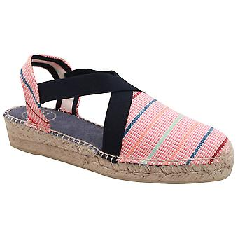 Toni Pons Closed Toe Canvas Low Espadrille Wedge