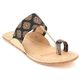 Aarz-Londen Hylda - teen-Ring Leather sandaal