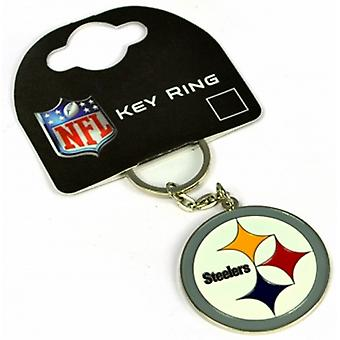 Pittsburgh Steelers NFL metal / enamel keyring. Official licensed product (bb)