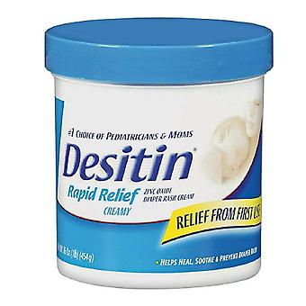 Desitin diaper rash cream, rapid relief, creamy, 16 oz