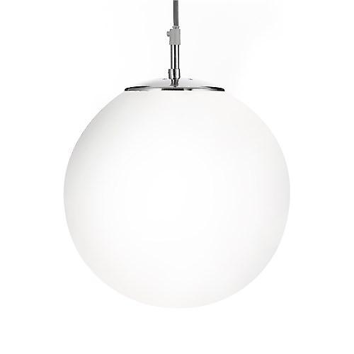 Searchlight 6066 Atom Shiny Opal Ball Pendant Satin Silver Suspension