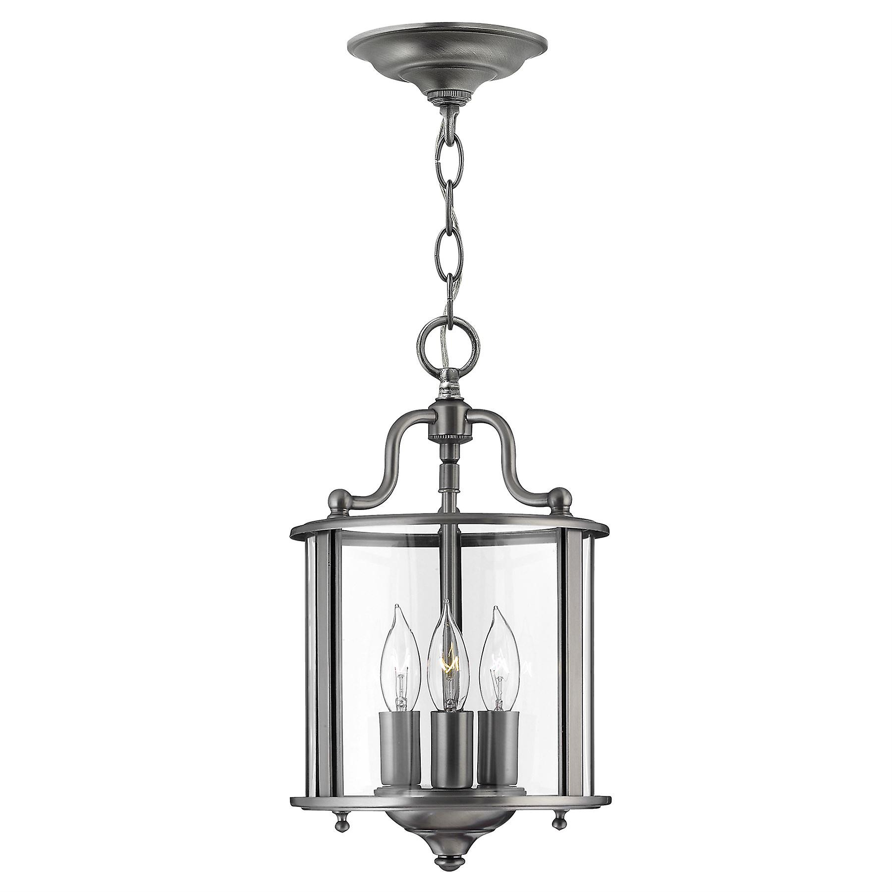 Elstead - 3 Light  Small Ceiling Pendant Pewter - HK GENTRY P S PW