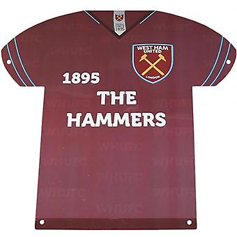 West Ham United Metal shirt teken