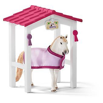 Schleich Horse Club Horse Stall con Lusitano mare cavallo giocattolo figura (42368)