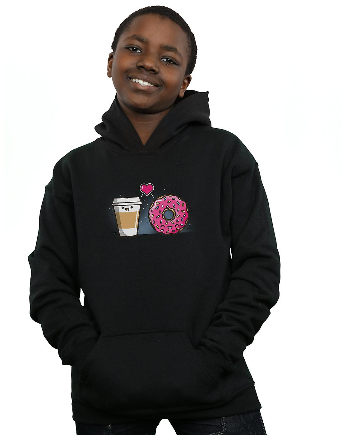 Fishbiscuit Boys Donut Coffee Couple Hoodie