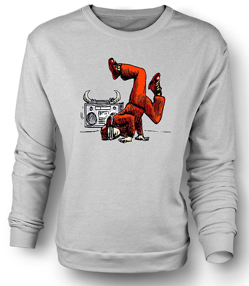 Mens Sweatshirt Breakdancing - Hip Hop - Colour