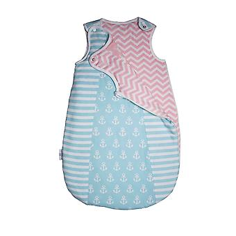 Uk's First Reversible Baby Wear Turnouts Reversible Cosy Cocoon Sleepbag 0-6 Months