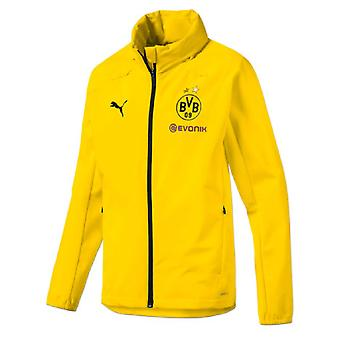 2019-2020 Borussia Dortmund Puma Rain Jacket (Yellow) - Kids