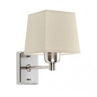 1 Light Indoor Wall Lamp Satin Nickel