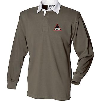 1st Armoured UK Division - Licensed British Army Embroidered Long Sleeve Rugby Shirt