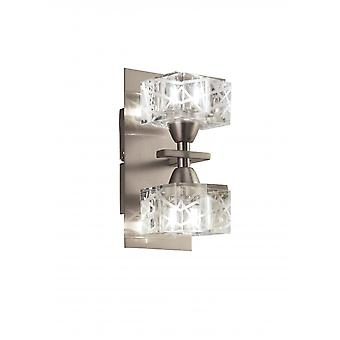 Mantra Zen Wall Lamp Switched 2 Light G9, Satin Nickel