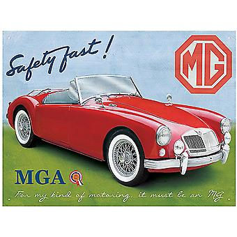 MG A MGA Roadster Steel Sign    (rh)