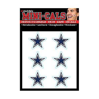 Wincraft 6er Gesicht Aufkleber 3cm - NFL Dallas Cowboys