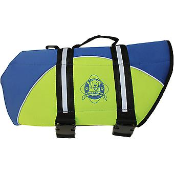 Paws Aboard Neoprene Doggy Life Jacket Medium-Blue & Yellow NEOM-B1400