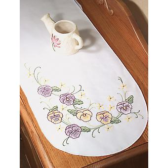 Cachet Perle bord commode foulard 15 « X 42 » Pansy 18274
