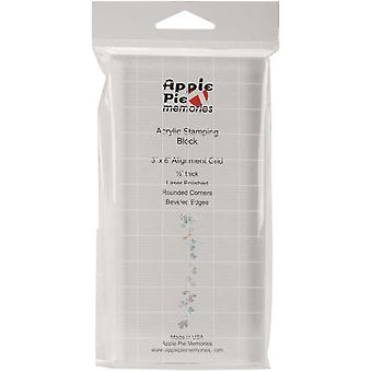 Apple Pie Memories Acrylic Stamp Block With Alignment Grid 3