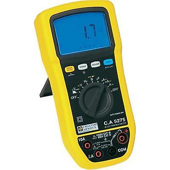 Handheld multimeter digital Chauvin Arnoux C.A 5275 Calibrated to: Manufacturer standards Splashproof (IP54) CAT III 100