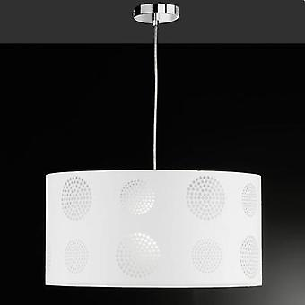 Pendant light HV halogen, LED E27 57 W Honsel Joona 64761 White
