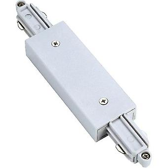 High voltage mounting rail Connector SLV 1-phase 143101 White