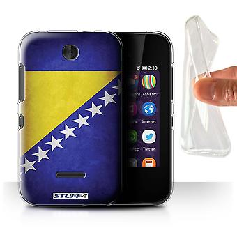 STUFF4 Gel/TPU Case/Cover for Nokia Asha 230/Bosnia & Herzegovina/Flags