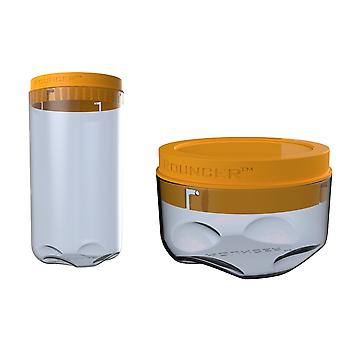 Rouncer - A High Quality Designed and Durable Storage Containers Pack in 2 Sizes - Ideal for Home & Kitchen Storage Solutions.