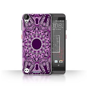 STUFF4 Case/Cover for HTC Desire 630/Octagon/Purple/Mandala Art