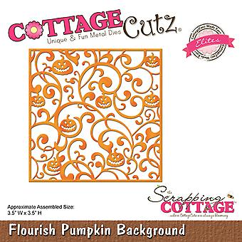 Les CottageCutz élites Die - Flourish Background citrouille, 3.5