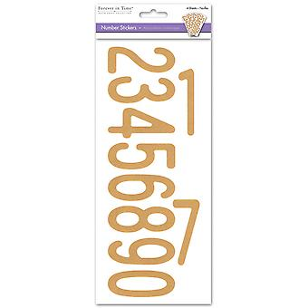 MultiCraft Letters & Numbers Medley Stickers-Numbers Kraft SS440F