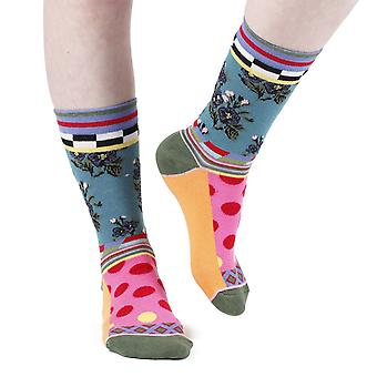 Bouquet women's crazy combed cotton crew socks | French design by Dub & Drino
