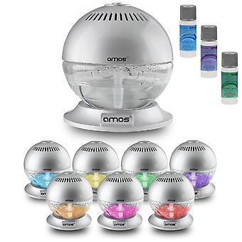 AMOS Globe Air Revitaliser med Base (sølv)