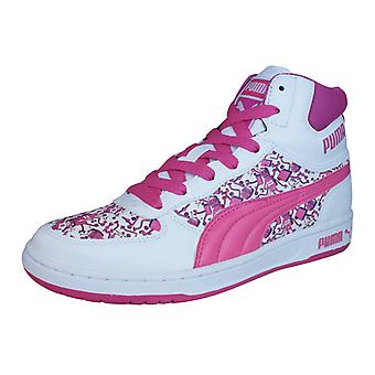 Puma Contest Hi 3Dim Girls Trainers / Hi Tops - White
