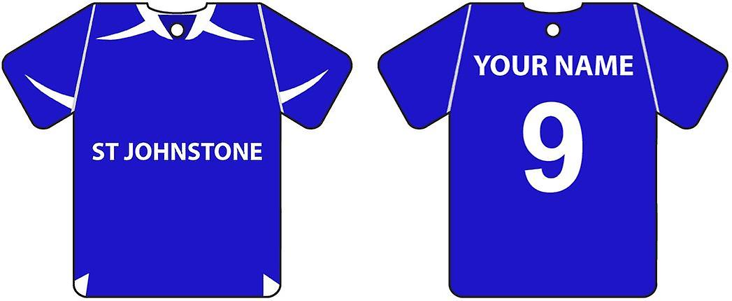 Gepersonaliseerde St Johnstone Football Shirt auto luchtverfrisser