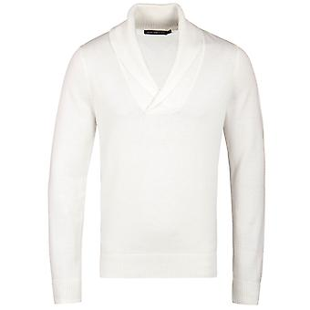 Henri Lloyd Eccleston Cream Shawl Neck Knitted Sweater