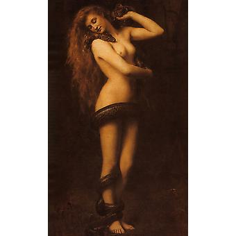 John Collier - Lilith 1887 Poster Print Giclee