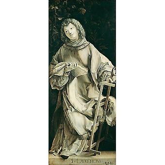 Matthias Grunewald - St Lawrence St Cyriacus Poster Print Giclee