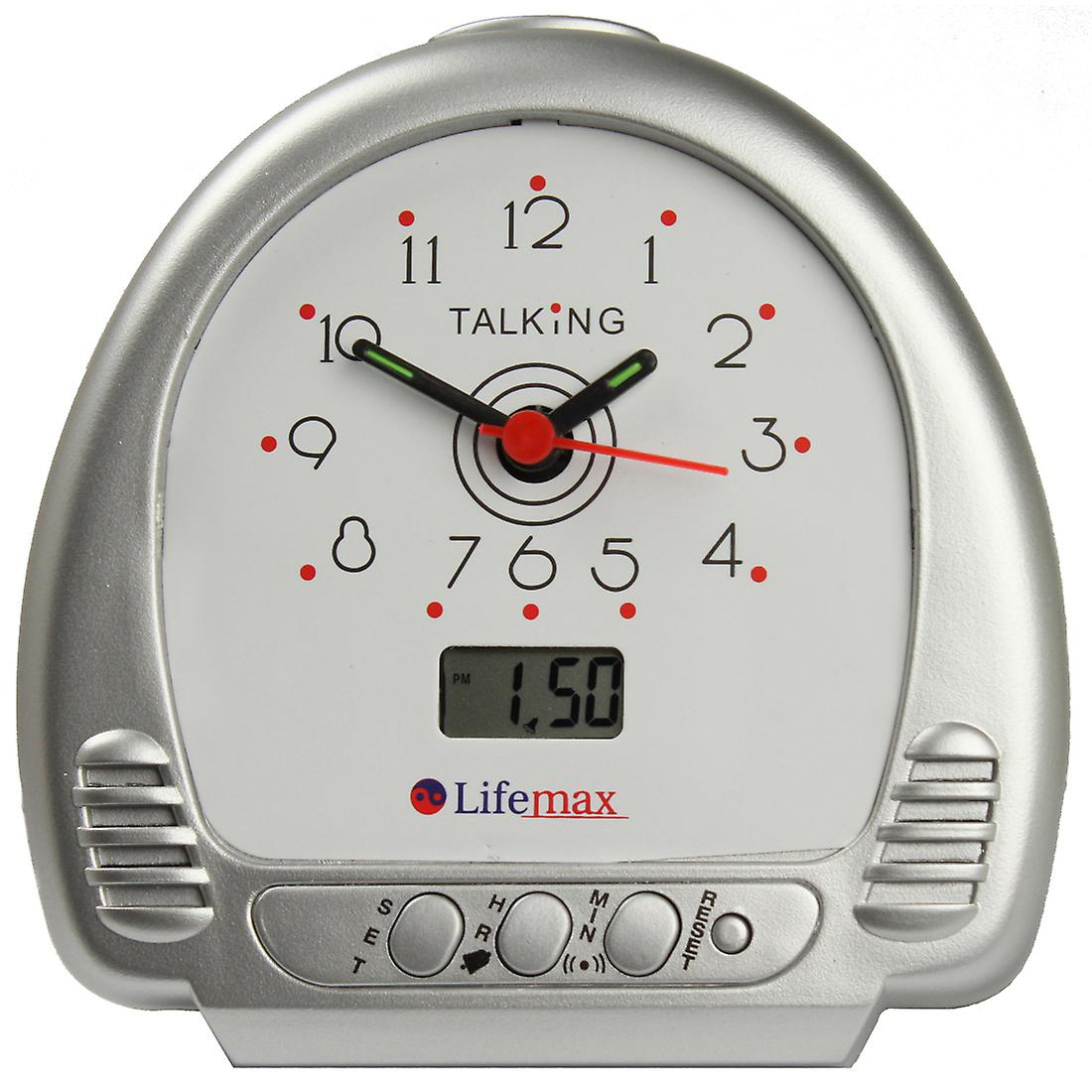 Talking Alarm Clock with hands and LCD