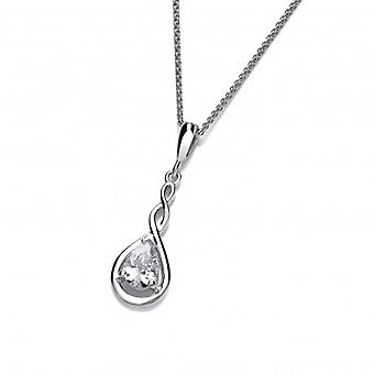 Cavendish French Silver and Cubic Zirconia Celtic Twist Pendant without Chain