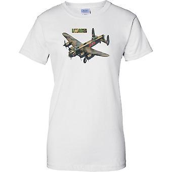 Avro Lancaster bombefly - legendariske WW2 militære bombefly - damer T Shirt