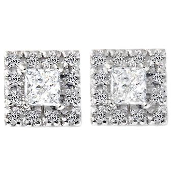 3/4ct Diamond Studs Earrings White Gold
